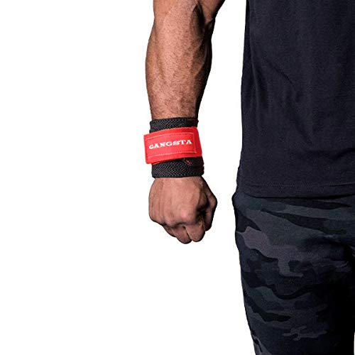 Sling Shot Mark Bell's Gangsta Flex Wrist Wraps for Weightlifting and Bodybuilding, Heavy-Duty Wrist Support Wraps for Heavy Lifting