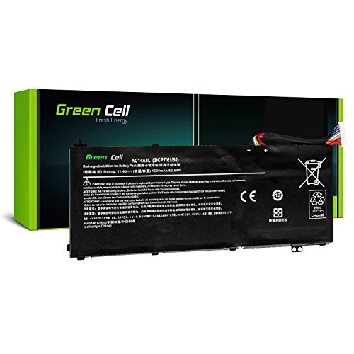 Green Cell® AC14A8L Laptop Akku für Acer Aspire Nitro V15 VN7 VN7-571G VN7-572G VN7-591G VN7-592G V17 VN7-791G VN7-792G VX 15 VX5-591 VX5-591G (Li-Polymer Zellen 3800mAh 11.4V Schwarz)