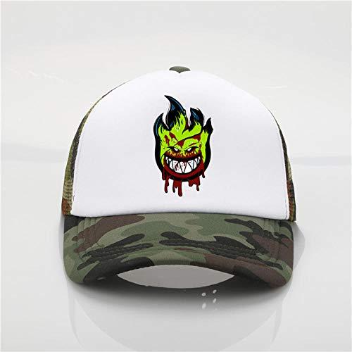 Axlgw Spitfire Wheels Skateboard Zombie Print Baseball Cap Fashion Herren S Sommer Sonnenhut Camouflage