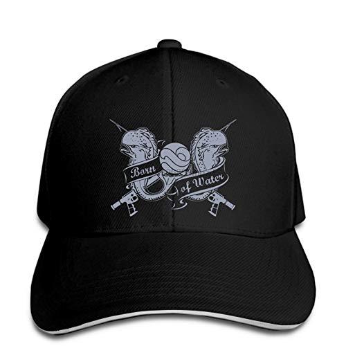 OEWFM Gorra de béisbol Negra con Visera Estampada entrepiso Sombrero de pez Disfraz de Buceo Libre Gorra de Rebote rápido Sombreros de Mujer Llegan a la Cima Regalo