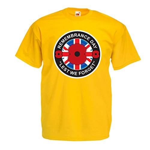 Männer T-Shirt Erinnerungstag - Lest Wir vergessen (Medium Gelb Mehrfarben)