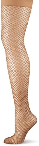 KUNERT Damen NET Strumpfhose, Beige (Puder 3550), 40 (Herstellergröße: 40/42)