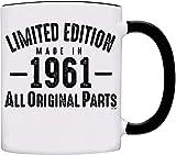 Welcome to Customize 1961 Mug - 60th Birthday Gifts Edición Limitada Fabricada en 1961 Todas Las Piezas Originales -1961-0071-Negro