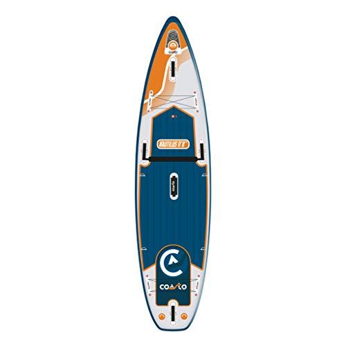 Coasto Nautilus Tabla Sup, Adultos Unisex, Teal/Naranja, 11'8'