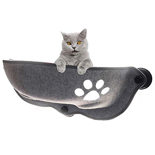 Wovatech Cat Hammocks Window - Kitty Window Bed Cat Window Seat - Pet Resting Seat Lounger Sofa with 3 Large Suction Cups, 20KG Load Bearing (67×67×25cm)
