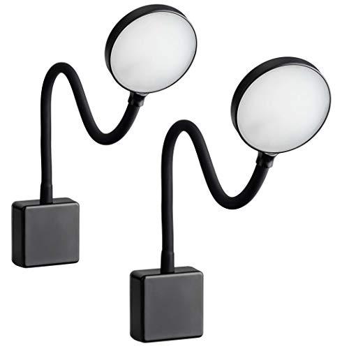 SEBSON LED Steckdosenlampe dimmbar schwarz - 2er Set - Leuchte für die Steckdose 4W, Steckerleuchte flexibel neutralweiß 4000K, Leselampe, Nachtlicht