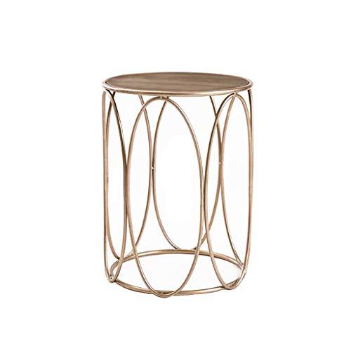 table basse table basse Nordic Iron art bois/verre trempé Simplicité moderne Salon de loisirs balcon Côté (Couleur : A)