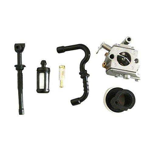 JRL - Carburador, Filtro de Aire de Gasolina y colector para Stihl 017018MS 170180