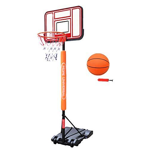 WOOCF Basketball Schießständer In-Ground Basketball Hoop System for Kinder/Kleinkinder Tragbare Basketballtore Gewichtete Basis mit Rädern Höhenverstellbar 4,9-9ft