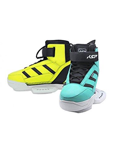 Boots Pro KSP Stronger Blue/Yellow 8 - 9 Bindings Für Wakeboard Kitesurfen Board Kiteboarding Kite