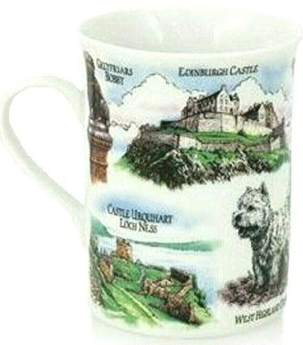 Schottische Tasse Schottland Cup Edinburgh Castle Lochness Szenen Sehenswürdigkeiten Piper