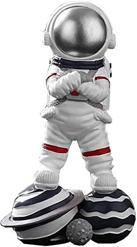 JJDSN Astronauta Figura Estatua Adorno Resina Aeroespacial Serie Sueño Escultura, Moda Sala de Estar Escritorio Habitación para niños Decoración de Dormitorio Regalo