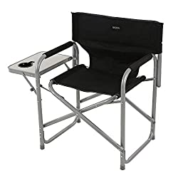 Polyester fabric and steel frame Maximum load - 100kg Folding side table with fibreboard surface