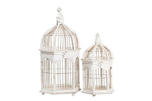 Way Home Store Lot de Deux Cages en Bois Blanc