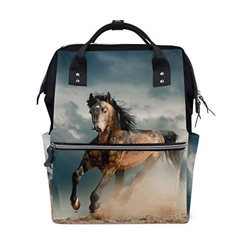 LUPINZ Cool Horse Laufband Dye Color Wickeltasche Multifunktion Rucksack Reisetasche