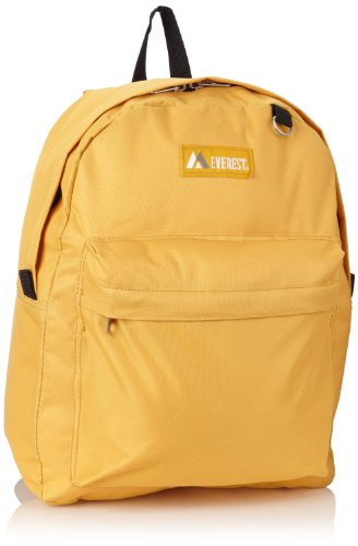 Everest Classic Backpack, Yellow, One Size