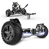 GeekMe Gyropode Auto-équilibré Scooter électrique 8,5 '' Tout Terrain avec Moteur Puissant Bluetooth + Hoverkart Accessoire pour Gyropode Electrique (Camouflage+Camouflage kart1)