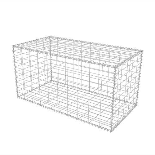 vidaXL Cesta de acero para muro de gaviones 100x50x50 cm acero