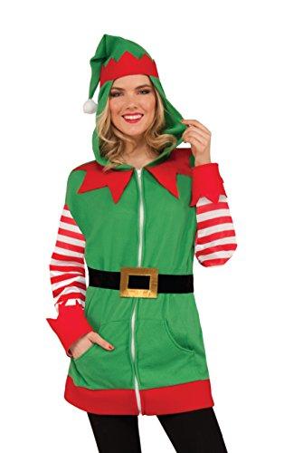 Forum Novelties Unisex-Erwachsene Holiday Elf Hoodie Kostm-Oberteil, Siehe Abbildung, Standard