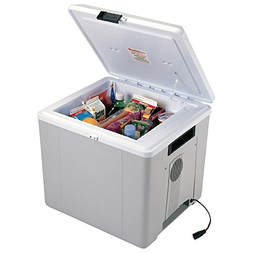 Travel Cooler and Warmer. 27.5 Liter (29 Quart) 12 volt Thermoelectric Iceless Fridge. Perfect for your Car, Truck, Boat and Camping