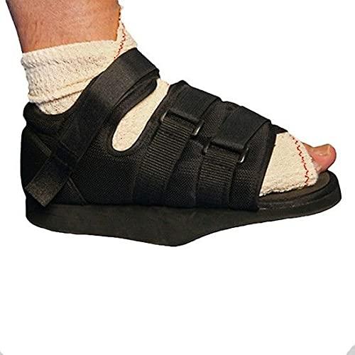 Zapato post-quirurgico en talo, con velcro, negro, Talla M (37-39), Emo