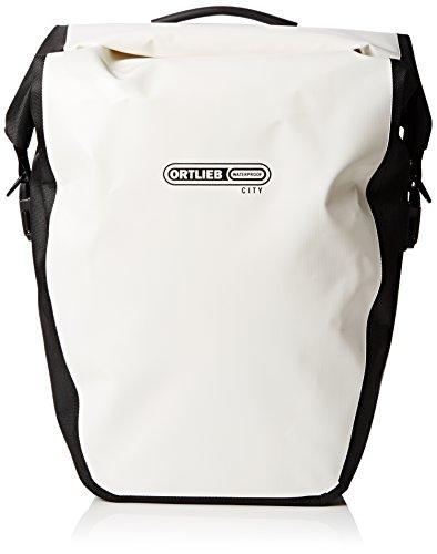Ortlieb Unisex Gepäckträgertasche Back-Roller City Paar, weiß-schwarz, 42 x 32 x 17 cm, 40 Liter, F5003