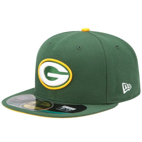 New Era Erwachsene Baseball Cap Mütze NFL On Field Bay Packers 59 Fifty Fitted, Team, 6 7/8