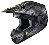 HJC Unisex-Adult Off Road Motorcycle helmet CS-MX II Sapir Graphic (MC-3HSF Grey/Black/Hi-Viz, Large)