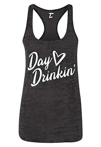 Day Drinkin' - Summer Party Drinking Women's Racerback Tank Top (Black, X-Large)
