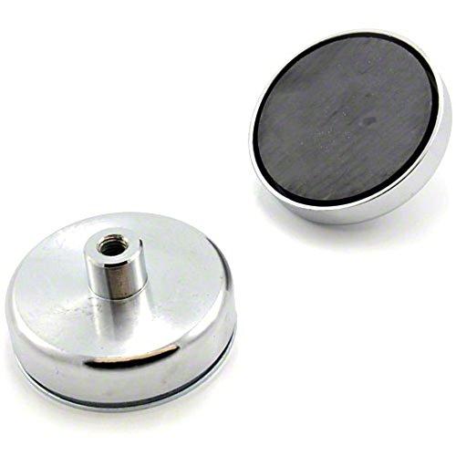 Magnet Expert® 80mm x 32mm dia tall x M10 Gewinde Ferrittopf Magnet - 60kg Pull (1 Stück)