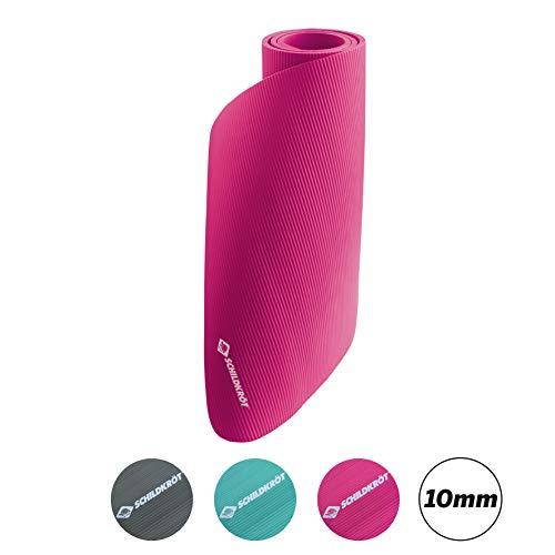 Schildkröt-Fitness Unisex – Erwachsene Fitnessmatte 10mm, Pink, 960070, 180 x 61cm