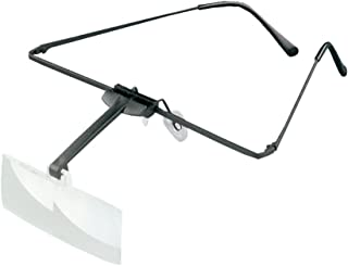 ESCHENBACH メガネ型ルーペ ラボフレーム 両眼タイプ 倍率1.7倍 2倍 レンズ2枚セット 1644-501