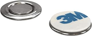 totalElement Small Round Magnetic Fastener/ID Badge, Lapel Pin, Brooch Holder with Adhesive (10 Pack)