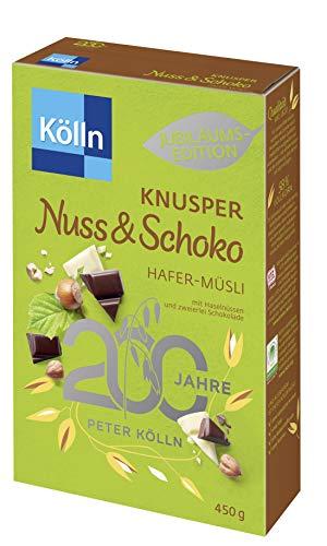 Kölln Knusper Nuss & Schoko Hafer Müsli, 8er Pack (8 x 450 g)