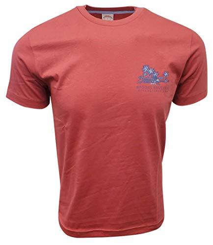 Brooks Brothers Men's Motive Crew-Neck T-Shirt (Red, Medium)