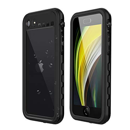 Mijobs Wasserdichte Schutzhülle für iPhone SE 2 / iPhone 8 / iPhone 7, 360 A staubdicht, stoßfest, IP68 4.7