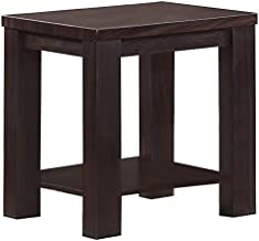 Jiwa Berani Linda 2 Side Table, Wenge - 45H x 45W x 55D cm
