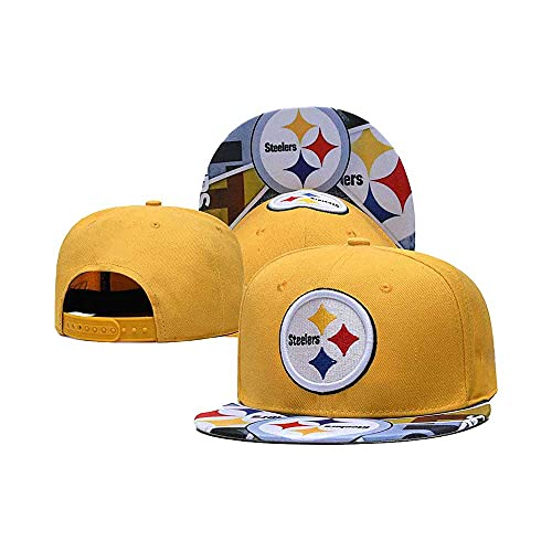 Adjustable Snapback Hat for Steelers, Classic Black Hip-Hop Baseball Cap As a Gifts to Family Friends and Fans.