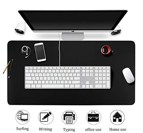 Esterilla Ordenador Alfombrilla Escritorio de Oficina Negra, Protector de Escritorio Pad & Mouse Pad ultrasuave Bloc 80 x 40 cm