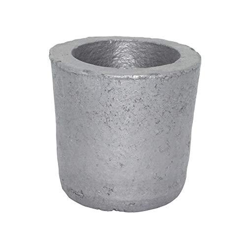 Wzqwzj Crisoles de Grafito de carburo de silicio, 1 kg Horno de Taza de crisol de fundición de Grafito de carburo de silicio para fundir Metal
