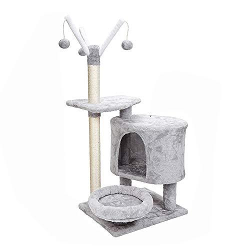 YANGYUAN Árbol de Gato, Torre de Gato con Postes Cubiertos de sisal Postes de Canasta Bola de Piel y Muebles acogedores de Gatos for Gatitos