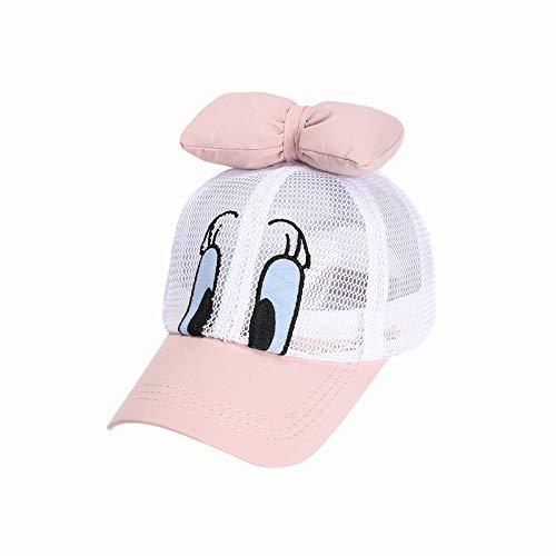 wopiaol Children's hat summer new Korean version of super cute bowknot baby duck net cap shade children's baseball cap
