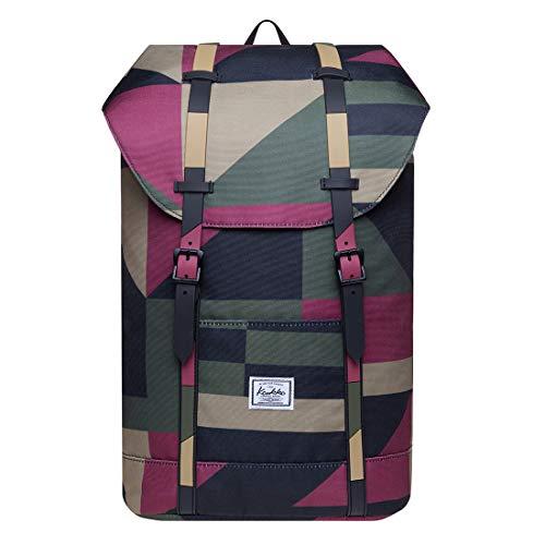 KAUKKO Rucksack Damen Herren Schön und Praktisch Daypack mit Laptopfach für 12