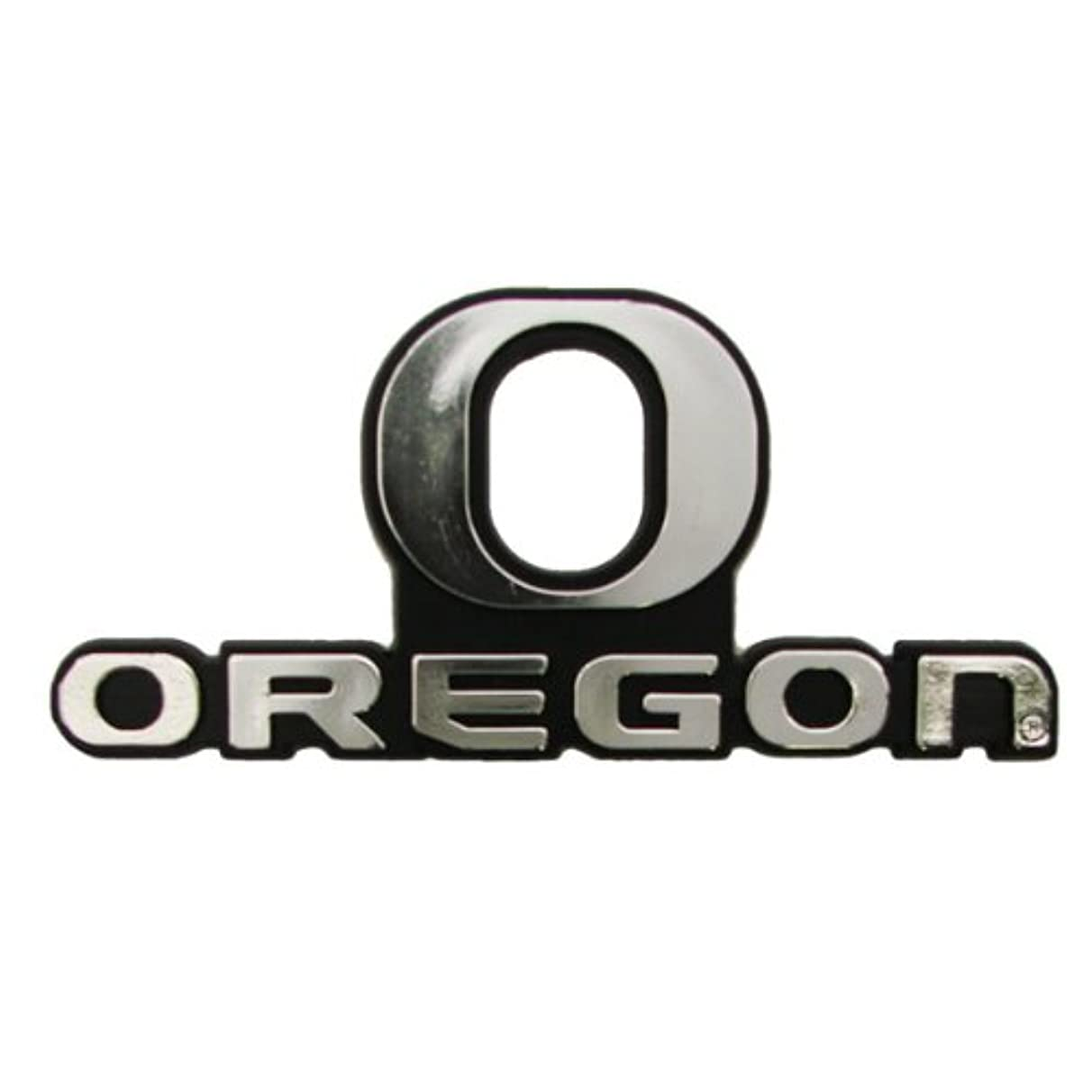 Oregon Ducks Silver Auto Emblem