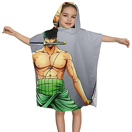 Toalla de baño infantil con capucha de película de una pieza de 60 x 60 cm, absorbente de lujo para baño y playa de algodón suave Terry paño con capucha
