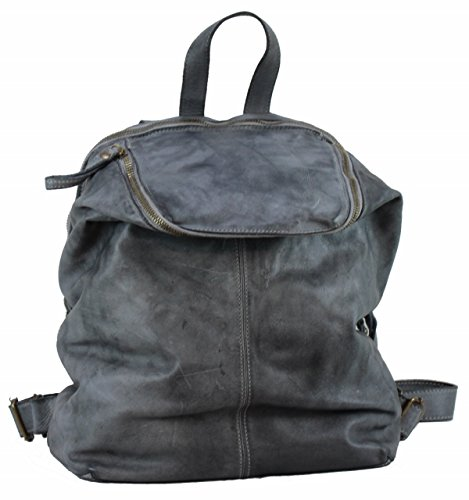 BZNA Bag Richie grey Backpacker Designer Rucksack Damenhandtasche Schultertasche Leder Nappa sheep ItalyNeu