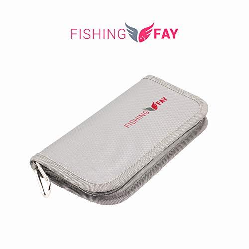 FISHN Blinkertasche – Spoontasche - robuste Tasche für Blinker, Spoons, Spinner und Fliegen - sehr flach, leicht und bietet viel Schutz (FISHINGFAY Blinkertasche)