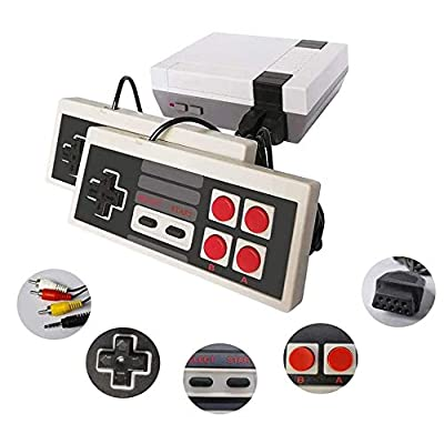 KINOEE Classic Handheld Game Console, Built-in 620 Classic Games and 2 NES Classic Controller AV Output Video Games, is an Ideal Gift Choice for Children and Adults (White) by KINOEE