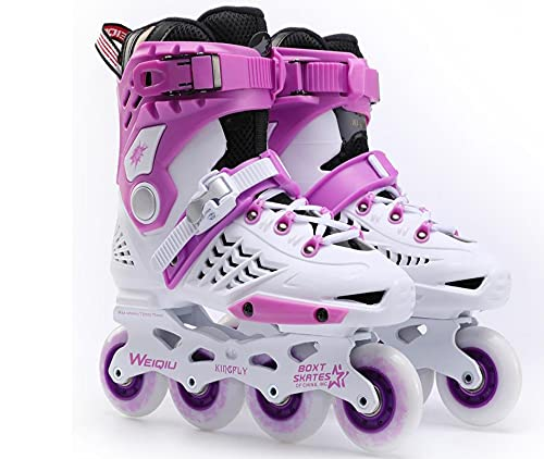 roller skates purple and blue