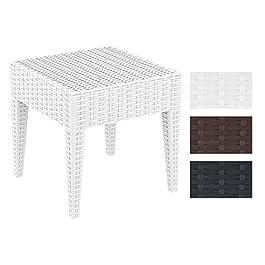CLP Table Basse Design de Jardin Miami I Hauteur de 45 cm en Plastique Aspect Rotin Empilable et Résistante Marron, 45 x…